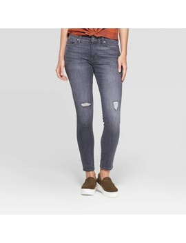 Women's Mid Rise Skinny Jeans   Universal Thread™ Gray by Universal Thread
