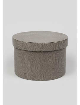 Faux Leather Croc Storage Box by Matalan