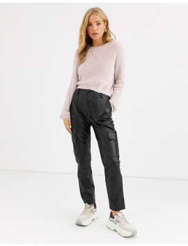 Pull&Bear Soft Touch Sweater In Pink by Pull&Bear