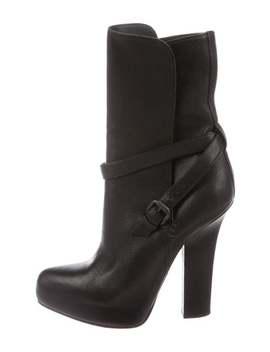 Leather Mid Calf Boots by Bottega Veneta