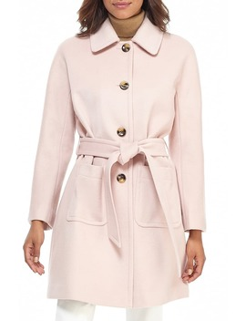 Hadley Belted Wool Blend Coat by Gal Meets Glam Collection