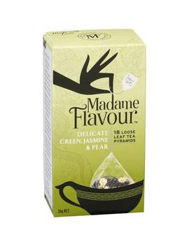 Madame Flavour Green Jasmine & Pear Tea Pods 18 Pack by Madame Flavour