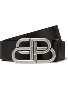 3cm Black Leather Belt by Balenciaga