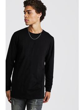 Long Sleeve Longline T Shirt by Boohoo