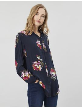 Elvina Button Front Woven Top by Joules