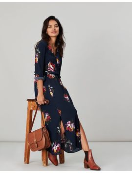 Chloe Fixed Wrap Dress by Joules