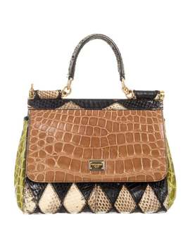 Snakeskin & Crocodile Miss Sicily Bag by Dolce & Gabbana