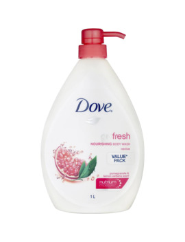 Dove Go Fresh Body Wash Pomegranate And Lemon Verbena 1l by Dove