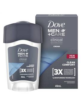 Dove Men Clinical Roll Deodorant Cream Clean Comfort 45ml by Dove Men