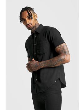 Short Sleeve Denim Shirt by Boohoo