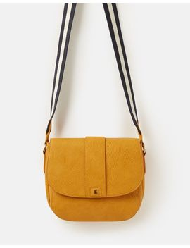 Bridport Bright Faux Leather Saddle Cross Body Bag by Joules