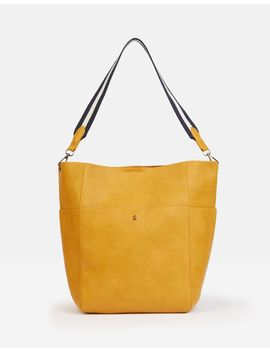 Wayfield Bright Faux Leather Bucket Purse by Joules