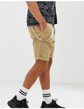 Bershka Slim Cargo Shorts In Tan by Bershka's