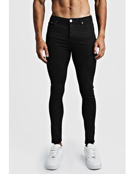 Super Skinny Black Denim Jeans by Boohoo
