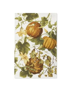 Botanical Pumpkin Towels, Set Of 2 by Williams   Sonoma