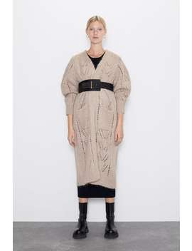 Lange Jacke Aus Wolle by Zara