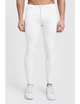 spray-on-skinny-white-denim-jeans by boohoo