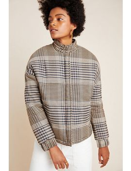 Joan Plaid Puffer Jacket by The Fifth Label