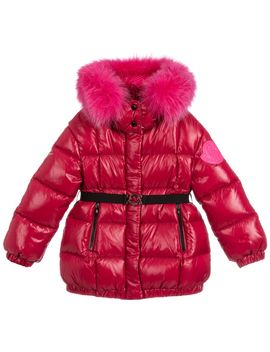 Red Down Padded Puffer Jacket by Moncler Enfant