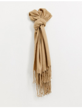 New Look Plain Scarf In Camel by New Look
