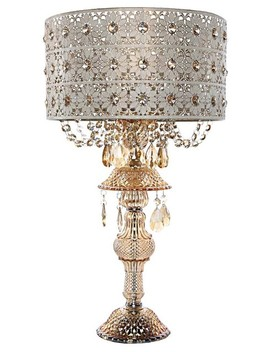 "24"" Jeweled Blossoms Table Lamp, Champagne by River Of Goods"