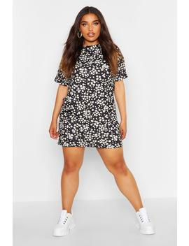Plus Daisy Oversize T Shirt Dress by Boohoo