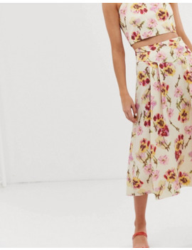 & Other Stories A Line Linen Blend Floral Skirt Two Piece by & Other Stories