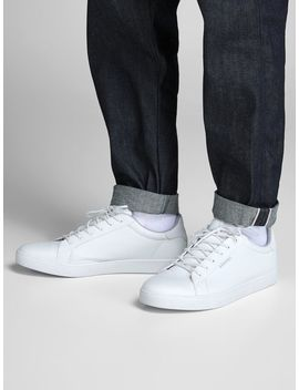 Faux Leather Sneakers Modal Blend T Shirt  Baseball Inspired Knitted Cardigan  Glenn Original Cj 080 50 Sps Slim Fit Jeans  Faux Leather Sneakers by Jack & Jones