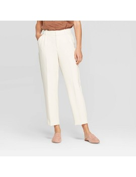 Women's Regular Fit Mid Rise Pleated Pants   A New Day™ by A New Day