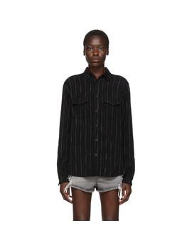 Black Stripes Shirt by Saint Laurent