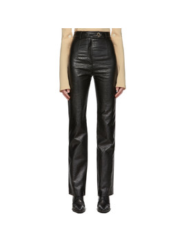 Black Patent Back To Front Trousers by A.W.A.K.E. Mode