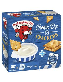 The Laughing Cow Cheese And Crackers 40g by The Laughing Cow