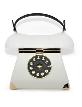 Women's Vintage Telephone Case Novelty Gift Top Handle Gold Crossbody Hand Bag by Ebay Seller