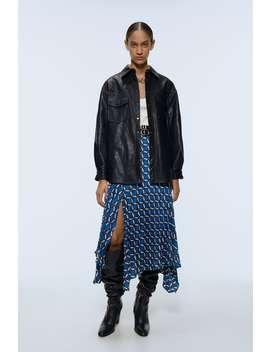 Skjortejakke Med Skinneffekt by Zara