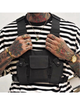 Black Tactical Military Chest Rig Shoulder Bag Utility Vest by Vintage  ×  Street Fashion  ×