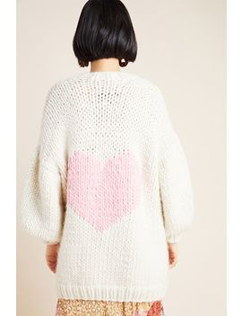 Happy Hearts Merino Wool Cardigan by The Knitter