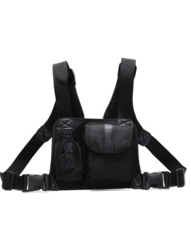 Black Tactical Chest Rig /Shoulder Bag/ Utility Vest by Vintage  ×  Military  ×  Street Fashion  ×