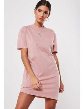 rose-basic-t-shirt-dress by missguided
