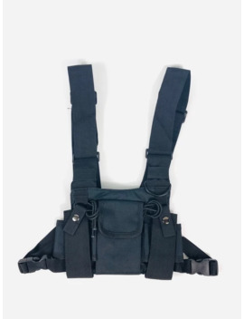 Black Tactical Chest Rig Shoulder Utility Vest Military by Vintage  ×  Military  ×  Street Fashion  ×