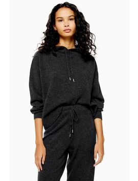 Knitted 100% Cashmere Hoodie by Topshop