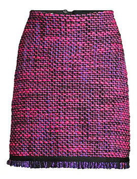 Ruge Multi Tweed A Line Skirt by Escada Sport