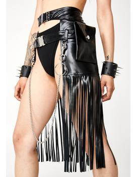 Dystopia Fringe Holster Skirt by Kiki Riki