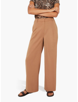 Warehouse Wide Leg Trousers, Camel by Warehouse