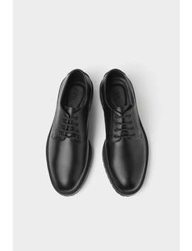 Black Shoes With Lug Soles by Zara