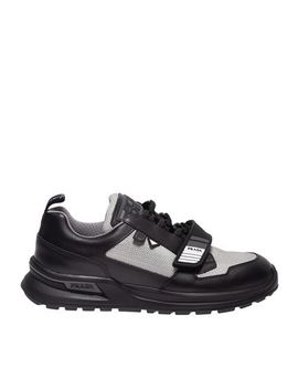 Mechano Sneakers In Black And Silver by Prada