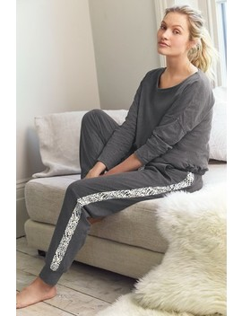 Charcoal Cotton Blend Pyjamas by Next