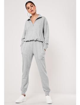 Gray Zip Through Sweater And Jogger Co Ord Set by Missguided