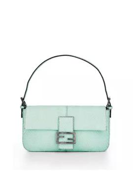Fendi Python Baguette Shoulder Bag by Fendi