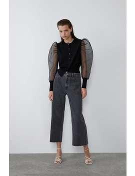 Hi Rise Culotte Jeans by Zara