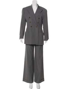 Virgin Wool Mid Rise Pantsuit by Jean Paul Gaultier